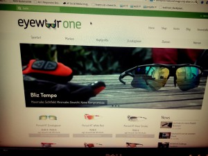Screenshot der EyewearOne Website